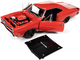 1969/5 Dodge Coronet Super Bee Hardtop R4 Red Black Hood Muscle Car & Corvette Nationals MCACN 1/18 Diecast Model Car Autoworld AMM1231