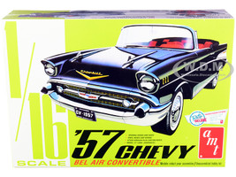 Skill 3 Model Kit 1957 Chevrolet Bel Air Convertible 2-in-1 Kit 1/16 Scale Model AMT AMT1159