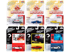 Pop Culture 2020 Set of 6 Cars Release 2 1/64 Diecast Model Cars Johnny Lightning JLPC002