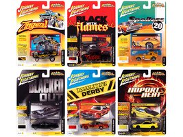 Street Freaks 2020 Set A of 6 Cars Release 3 1/64 Diecast Model Cars Johnny Lightning JLSF017 A