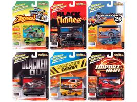 Street Freaks 2020 Set B of 6 Cars Release 3 1/64 Diecast Model Cars Johnny Lightning JLSF017 B