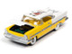 1957 Lincoln Premiere Saturn Gold Yellow White Marvin Gardens Game Token Monopoly 85th Anniversary Pop Culture Series 1/64 Diecast Model Car Johnny Lightning JLPC002 JLSP124