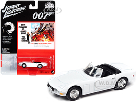 1967 Toyota 2000GT Convertible White James Bond 007 You Only Live Twice 1967 Movie Pop Culture Series 1/64 Diecast Model Car Johnny Lightning JLPC002 JLSP125