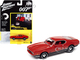 1971 Ford Mustang Mach 1 Bright Red Black Bottom James Bond 007 Diamonds Are Forever 1971 Movie Pop Culture Series 1/64 Diecast Model Car Johnny Lightning JLPC002 JLSP126