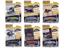 Vintage Ad Cars Set of 6 pieces Series 3 1/64 Diecast Model Cars Greenlight 39050