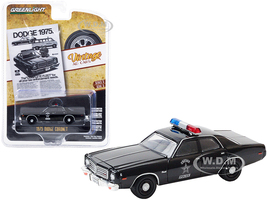 1975 Dodge Coronet State Police Black Dodge 1975. The Complete Fleet for All Your Law Enforcement Needs Vintage Ad Cars Series 3 1/64 Diecast Model Car Greenlight 39050 D