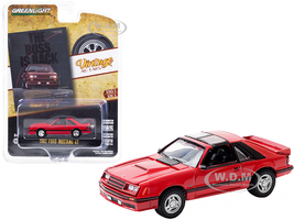 1982 Ford Mustang GT Red Black Stripes The Boss is Back Vintage Ad Cars Series 3 1/64 Diecast Model Car Greenlight 39050 E
