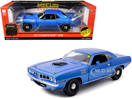 1971 Plymouth HEMI Barracuda Blue Metallic Lot #S266 Indianapolis 2011 Mecum Auctions 1/18 Diecast Model Car Highway 61 18025
