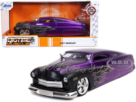 1951 Mercury Purple Black Flames Bigtime Muscle 1/24 Diecast Model Car Jada 32305