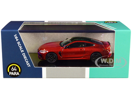 BMW M8 Coupe Motegi Red Metallic Black Top 1/64 Diecast Model Car Paragon PA-55211