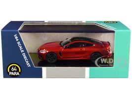 BMW M8 Coupe Motegi Red Metallic Black Top 1/64 Diecast Model Car Paragon PA-55211