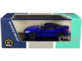 BMW M8 Coupe Marina Bay Blue Metallic Black Top 1/64 Diecast Model Car Paragon PA-55212