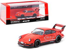 Porsche RWB 930 Painkiller Version 2 Red RAUH-Welt BEGRIFF 1/64 Diecast Model Car Tarmac Works T64-015-RE2