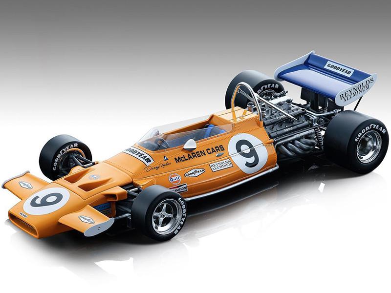 McLaren M19A #9 Denny Hulme Gulf Oil Formula One F1 Monaco GP 1971 Mythos Series Limited Edition 180 pieces Worldwide 1/18 Model Car Tecnomodel TM18-139 B