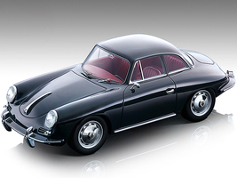 1961 Porsche 356 Karmann Hardtop Dark Gray Red Interior Mythos Series Limited Edition 99 pieces Worldwide 1/18 Model Car Tecnomodel TM18-143 A