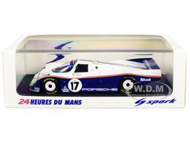 Porsche 962 C #17 Bell Stuck Holbert Winner 24 Hours of Le Mans 1987 1/43 Model Car Spark 43LM87