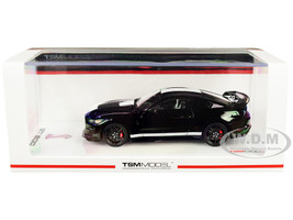Ford Mustang Shelby GT500 Shadow Black White Stripes 1/43 Model Car True Scale Miniatures TSM 430478