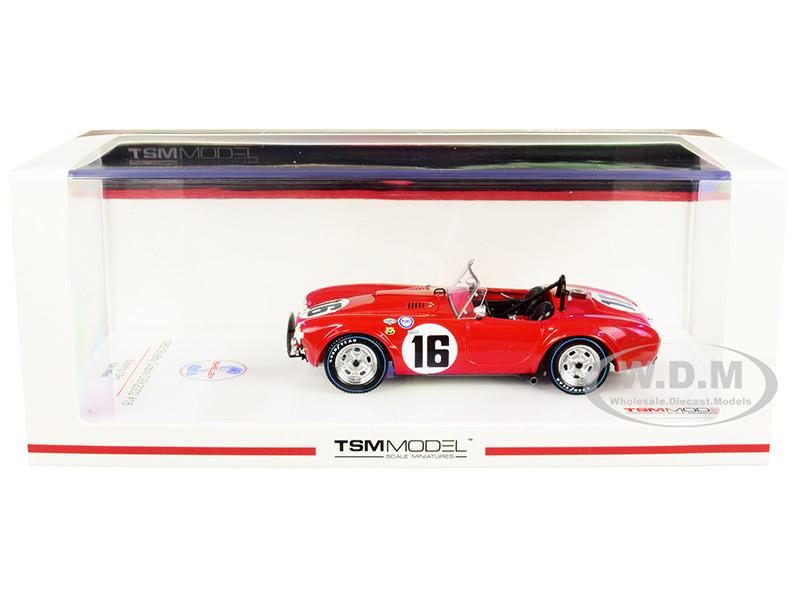 Shelby Cobra CSX2002 #16 Ken Miles Sebring 12H 1963 1/43 Model Car True Scale Miniatures TSM 430523