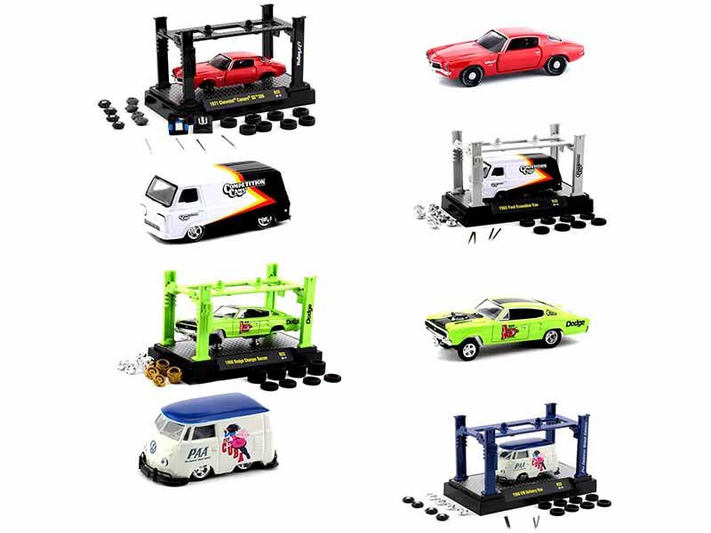 Model Kit 4 piece Car Set Release 33 1/64 Diecast Model Cars M2 Machines 37000-33