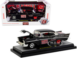 1957 Chevrolet 210 Hardtop Marvel Mystery Oil Black Limited Edition 7000 pieces Worldwide 1/24 Diecast Model Car M2 Machines 40300-80 B