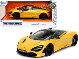 McLaren 720S Yellow Black Top Hyper-Spec 1/24 Diecast Model Car Jada 32280