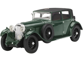 1930 Bentley 8 Litre Green Black Top Collection d'Elegance 1/18 Model Car True Scale Miniatures TSMCE180006