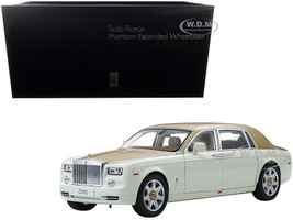 Rolls Royce Phantom Extended Wheelbase English White Gold 1/18 Diecast Model Car Kyosho 08841 EWG