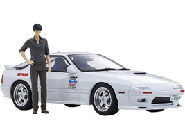 Mazda Savanna RX-7 FC3S RHD Right Hand Drive White Ryosuke Takahashi Figurine Initial D 1/18 Model Car Kyosho KSR18D03