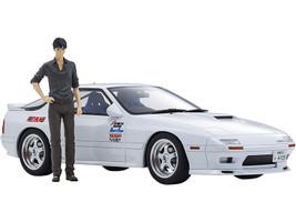 Mazda Savanna RX-7 FC3S RHD Right Hand Drive White Ryosuke Takahashi Figurine Initial D 1/18 Model Car Kyosho KSR18D03