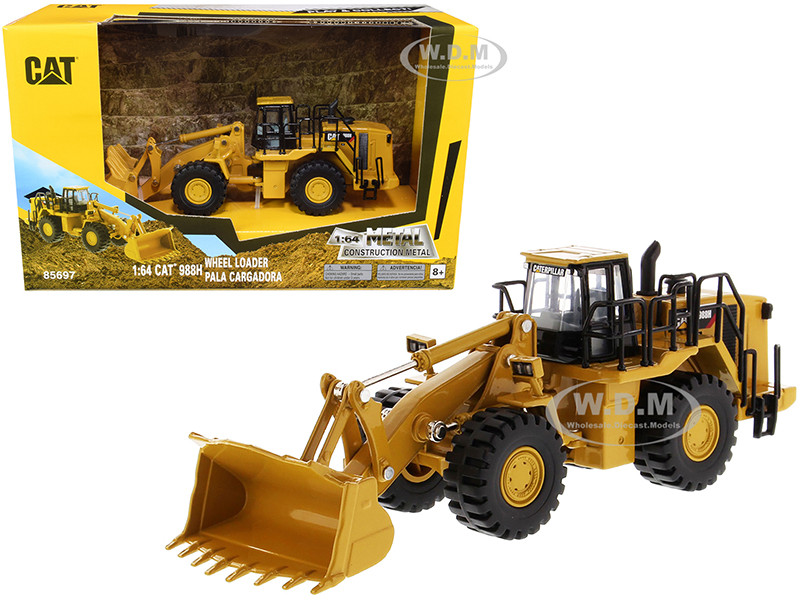 CAT Caterpillar 988H Wheel Loader Play & Collect 1/64 Diecast Model Diecast Masters 85697