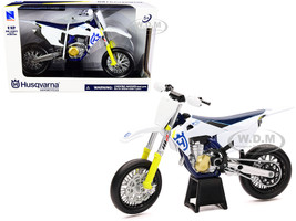 Husqvarna FS450 White Blue 1/12 Diecast Motorcycle Model New Ray 58163