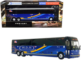 Prevost X3-45 Commuter Coach Bus BxM18 Downtown Wall St New York City MTA Dark Blue Stripes 1/87 HO Diecast Model Iconic Replicas 87-0224