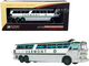 1970 MCI MC-7 Challenger Intercity Motorcoach Bus Burlington Vermont Transit Lines White Silver Green Stripes Vintage Bus Motorcoach Collection 1/87 HO Diecast Model Iconic Replicas 87-0256