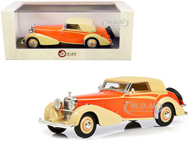 1934 Hispano Suiza J12 Top Up RHD Right Hand Drive Carrosserie Vanvooren Cream Orange Limited Edition 250 pieces Worldwide 1/43 Model Car Esval Models EMEU43002 B