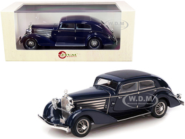1932 Austro Daimler ADR 8 Alpine Sedan Dark Blue Limited Edition 250 pieces Worldwide 1/43 Model Car Esval Models EMEU43003 A