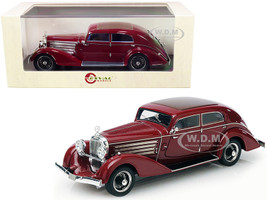 1932 Austro Daimler ADR 8 Alpine Sedan Maroon Limited Edition 250 pieces Worldwide 1/43 Model Car Esval Models EMEU43003 B
