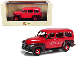 1952 Chevrolet 3100 Suburban Red Maroon Red Interior Limited Edition 250 pieces Worldwide 1/43 Model Car Esval Models EMUS43085 B