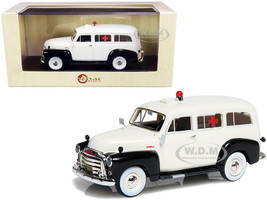 1952 GMC 3100 Suburban Ambulance Black White Limited Edition 250 pieces Worldwide 1/43 Model Car Esval Models EMUS43085 D