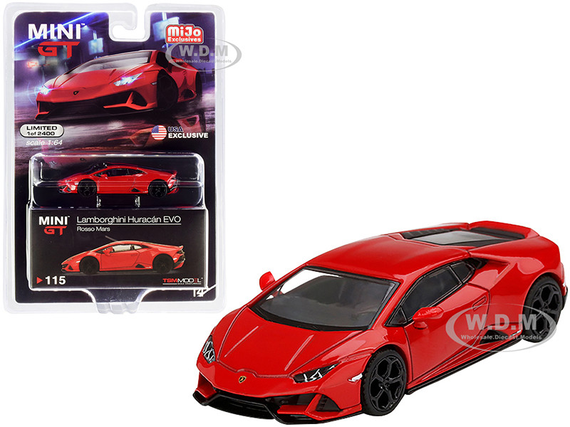 Lamborghini Huracan EVO Rosso Mars Red Limited Edition 2400 pieces Worldwide 1/64 Diecast Model Car True Scale Miniatures MGT00115