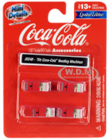 1970's Coca Cola Vending Machines 4 piece Accessory Set 1/87 HO Scale Models Classic Metal Works 20248