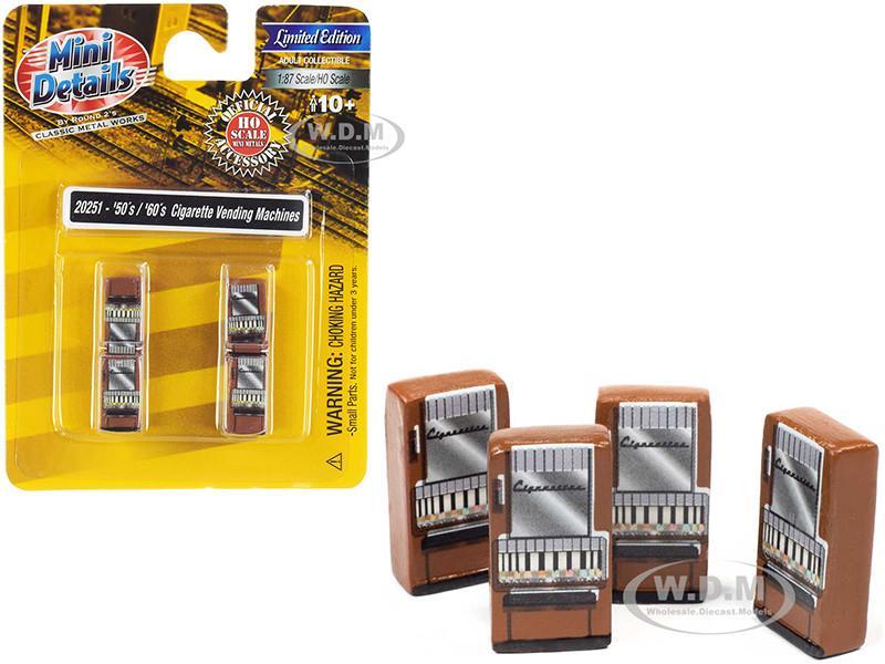1950's 1960's Cigarette Vending Machines 4 piece Accessory Set 1/87 HO Scale Models Classic Metal Works 20251