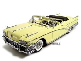 1958 Buick Convertible Yellow 1/18 Diecast Model Car Sunstar Platinum 4811