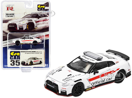 Nissan GT-R R35 Nismo RHD Right Hand Drive Official Car White Limited Edition 1200 pieces Special Edition 1/64 Diecast Model Car Era Car NS20GTRRF35B