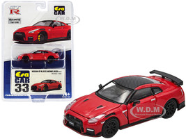 2020 Nissan GT-R R35 Nismo RHD Right Hand Drive Red Carbon Top Limited Edition 1200 pieces 1/64 Diecast Model Car Era Car NS20GTRRN33B