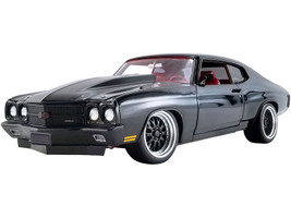 1970 Chevrolet Chevelle 454 SS Street Fighter G-Force Black Red Interior Limited Edition 774 pieces Worldwide 1/18 Diecast Model Car ACME A1805517
