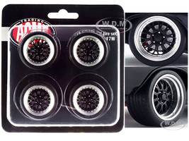 Street Fighter Pro Touring Wheel Tire Set of 4 pieces from 1970 Chevrolet Chevelle 454 SS Street Fighter G-Force 1/18 ACME A1805517W