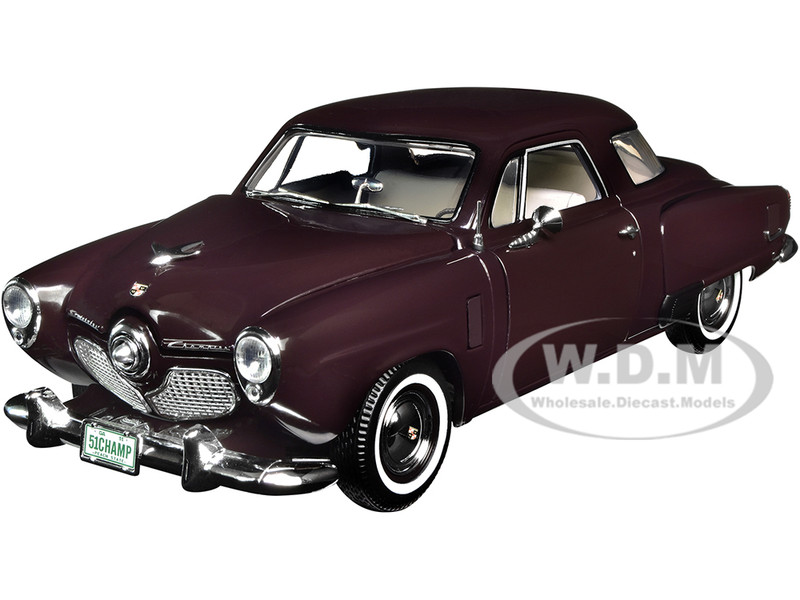 1951 Studebaker Champion Black Cherry Limited Edition 500 pieces Worldwide 1/18 Diecast Model Car ACME A1809201