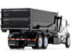 Mack Granite Tub-Style Roll-Off Container Dump Truck White Black 1/87 Diecast Model First Gear 80-0343