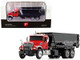 Mack Granite Tub-Style Roll-Off Container Dump Truck Red Black 1/87 Diecast Model First Gear 80-0344