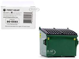 Refuse Trash Bin Green 1/34 Diecast Model First Gear 90-0593
